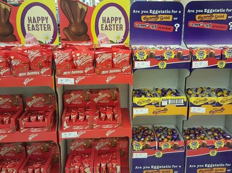 Easter eggs are already on shelves in supermarkets and it is only January.