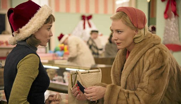 CONTENDERS: Rooney Mara and Cate Blanchett are both nominated for best actress in a drama for Carol.