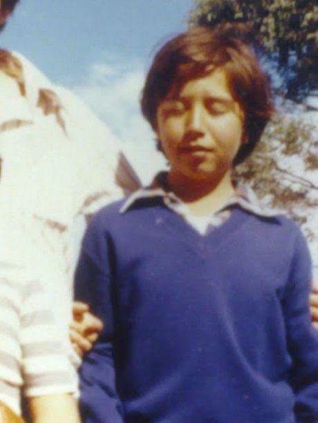 Gordon Myers as a schoolboy