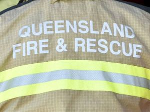 Crews battle shed fire for three hours