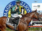 BOOKMAKERS have slashed the odds of Sydney colt Capitalist in the Golden Slipper after his dominant win in the Magic Millions Classic at the Gold Coast.