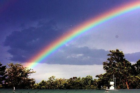 "A stunning photo called ""Toowoomba rainbow""."