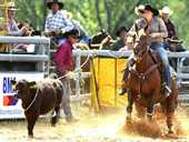 LOCAL cowgirl Jorja Iker, wife of leading Australian Professional Rodeo Association cowboy Shane Iker, recorded two roping wins in both her hometown rodeos.