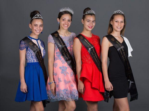 Ruby, Sophie, Brooke, Claudia, Brooke Mackrill - Junior Finalist - MORANBAH - Sophie Messina - Junior Finalist - MACKAY - Ruby Choy - Junior Finalist - MACKAY - Claudia Waru - Junior Finalist - GOLD COAST