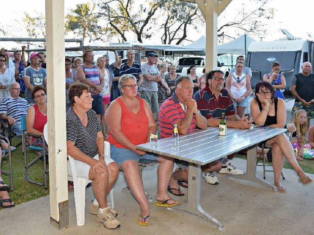 Mooloolaba Beachfront Caravan Park residents meet to discuss the possible closure of the park