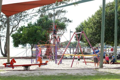 Children playing at Cotton Tree Park. Photo: Brett Wortman / Sunshine Coast Daily