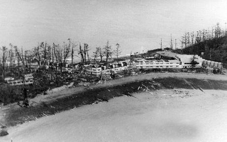 Daydream Island after Cyclone Ada struck, 1970. Photo Daily Mercury Archives