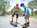 The SUNfest skateboard workshop at Brey Park, Boyne Island.