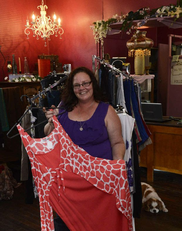 PLUS SIZE: Tracey Harrold owns We R Junk and Disorderly in Woondooma St.