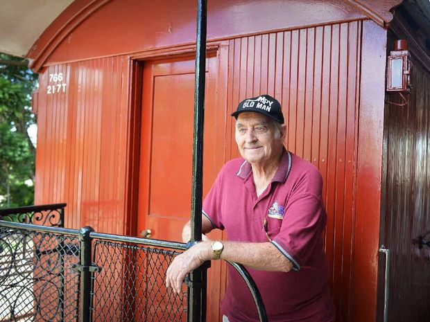 BRING IT BACK: Retired Rattler volunteer Ron Stephens at the Old Gympie Railway Station.
