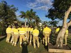 ERGON employees based in Bundaberg have walked off the job today in response to the company's plans to axe frontline jobs in the region and across the state.