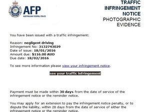 AFP warn of convincing email scam