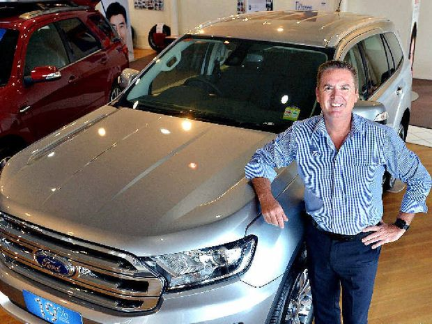 FOUR ON THE FLOOR: Coral Coast Ford's Richard Seares with the highly rated Everest Trend.