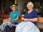 Australia Day at Hervey Bay Historical Village & Museum. Hazel Collins enjoys mat making with Diana Atthews who ties a Turk Head knot. Photo Hannah Baker / Fraser Coast Chronicle