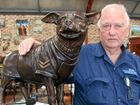BERT Elliott has organised many bronze sculptures to be imported into Australia – but none have touched him the way a sculpture of an Egyptian terrier has.