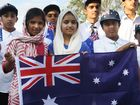 The local Muslim community hosted a barbecue at the Bait Al-Masroor mosque on Australia Day