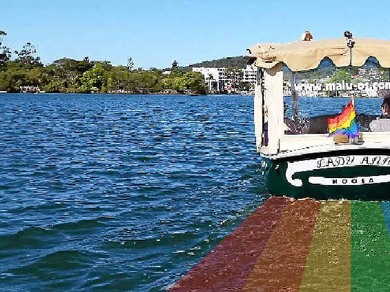 Noosa River gets its rainbow on for post-Mardi Gras party ...