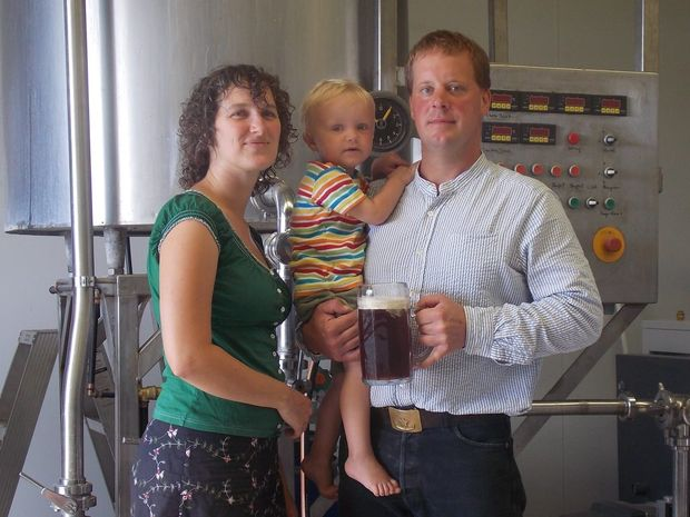 NEW BREWERY: The Kangler family in their new Baffle Beer Brewery. Photo: contributed