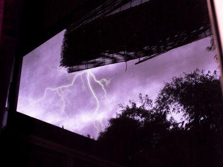 Mitch Roberts captured this image of lightning striking at Tanawha.