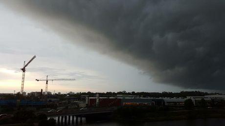 Storm coming over Maroochydore — at Emporio Maroochydore.