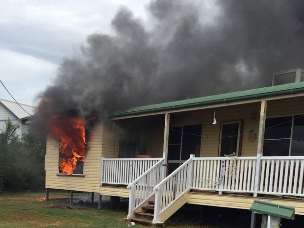 A house in Sister Kenny St, Nobby, has been destroyed by a fire.