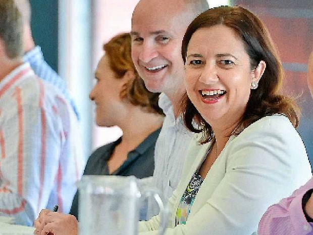 Premier Annastacia Palaszczuk brought her cabinet to Tannum Sands.