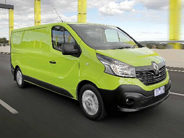 Renault Trafic on road.