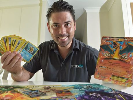 OLD FAVOURITES: Jason Adams with his Pokemon.