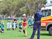 AN INTERNATIONAL bomb scare reached Buddina State School yesterday when students were evacuated after a threat was called in.