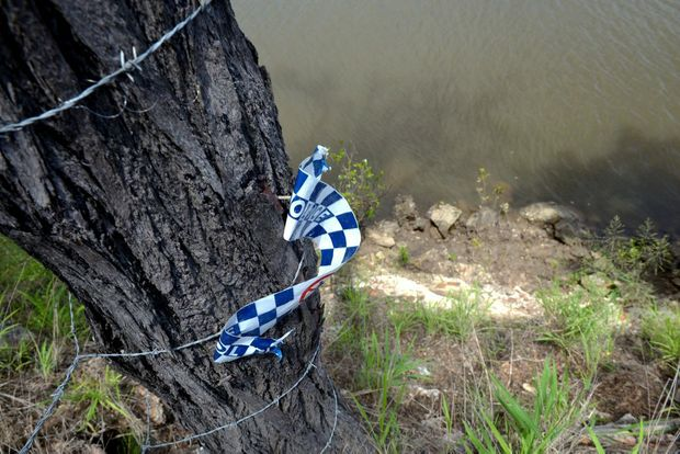 MYSTERIOUS DEATH: The scene where a man's car was found. Photo: Max Fleet / NewsMail