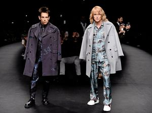 PARIS, FRANCE - MARCH 10, 2015:  Derek Zoolander (Ben Stiller, left) and Hansel (Owen Wilson) walk the runway at the Valentino Fashion Show during Paris Fashion Week at Espace Ephemere Tuileries in Paris, France.  Photo supplied by Paramount Pictures. Please credit photo to Pascal Le Segretain.