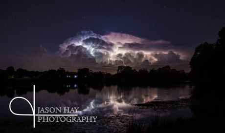 "Jason Hay. ""It was the storm cell where the cloud of ligntning just kept charging itself over and over for a million strikes, within its own cloud...amazing spectacle that went for a long time."""