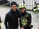 LONDON paramedic Catherine Maynard was shocked when former soccer star David Beckham stopped to buy her and her patient a hot drink whilst she was on duty.