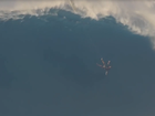 Surfer survives wipeout