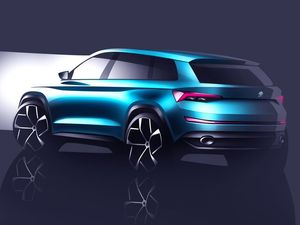Sketches released by Skoda of its seven-seat VisionS Concept which will kick off its range of SUVs.