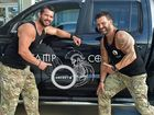 Preview for a boot camp to help raise funds for former soldiers struggling with post traumatic stress disorder and depression. Leon and Mick will be trainers for the boot camp. Photo: Warren Lynam / Sunshine Coast Daily
