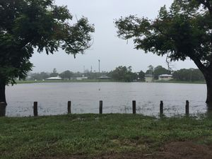 This is what Jardine Park looks like this morning after Rockhampton recorded 99.2mm of rain overnight.