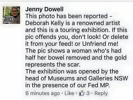 Jenny Dowell's facebook post.
