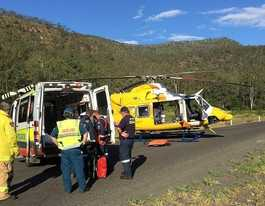 Woman, 24, in head-on crash airlifted to Toowoomba