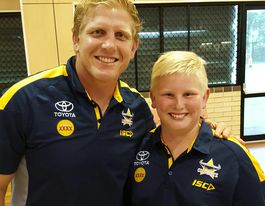 YOUR STORY: Cooper meets rugby idol at NRL for 12th birthday
