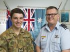 Australian Air Force Cadets Cadet Corporal Xavier McGrane (left) and Squadron Leader (AAFC) Stephen Johns encourage young people to consider joining as the organisation celebrates its 75th anniversary.