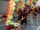 The Lion and Dragon Dance performance at Bargara State School.