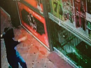 Shop windows smashed as angry woman goes on rampage