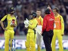 "BRENDON McCullum's hypocrisy and ""mob rule"" by a ""rabid"" crowd combined to bring Australia down at Seddon Park, according to Australian media."