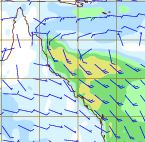 This shows the winds expected to hit the Queensland coast. Source: BOM.