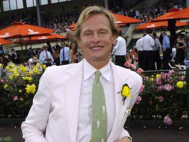 Carson Kressley of TV show Queer Eye for the Straight Guy as he poses for a photo at the Melbourne Cup Carnival