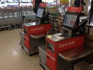 Self service checkouts, annoying yet convenient.