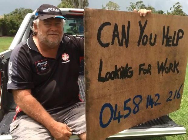 Donald Sorensen is looking for work in the Mackay region.