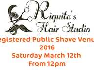 We're a registered public shave venue for leukemia foundation Worlds Greatest Shave. All public welcome. Leukemia foundation recommend a $20 donation to shave