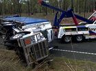 A STRING of truck accidents on the Bruce Hwy, including a B-double rollover that blocked one traffic lane for 22 hours, underlines the need for an upgrade.